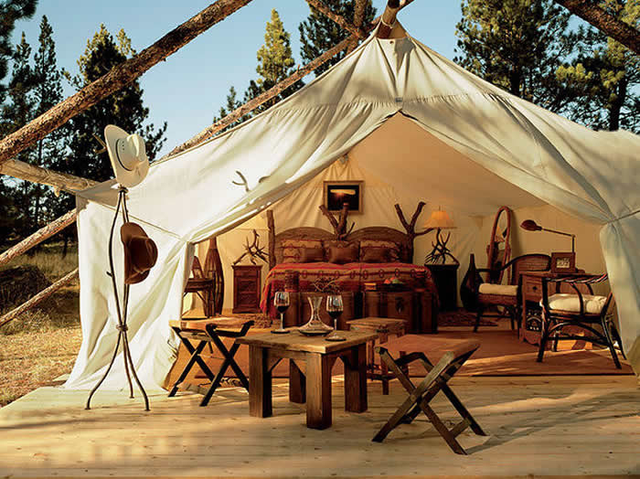 Le glamping, luxe et nature